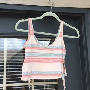 Urban Outfitters Stripped Crop Tank Top